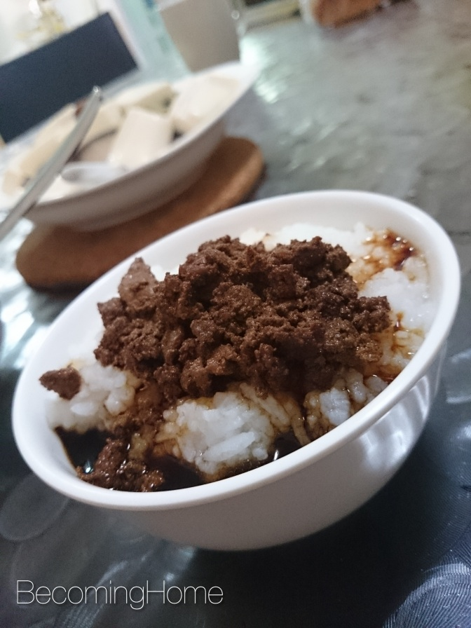 Putting Food on The Table: Soya Sauce Minced Pork 酱油肉碎